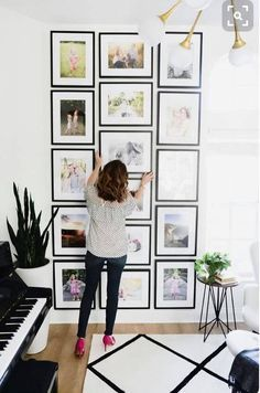Capture Sweet Moments with An Impressive Gallery Wall with Black Matted Frames -affiliate.