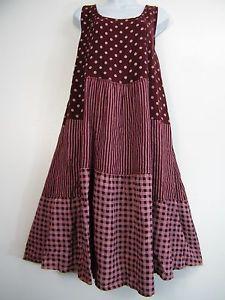 b4fd496303f1 Plus plus size 100% linen spotty stripy check design lagenlook dress size  20-24