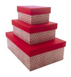 """Scatole rettangolari con coperchio in carta Tassotti """"Stella lucente"""" - Rectangular boxes with cardboard top covered with Tassotti decorative paper """"Stella lucente"""""""