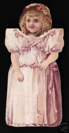 Vintage Clark's ONT Spool Cotton Thread Paper Doll (03/11/2007)
