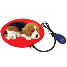 Heating Pads for Pets, Electric Heating Pad for Dogs andCats Warming Dog Beds Pet Mat Pressure Activated with Chew Resistant Cord Soft Removable Cover (Red) -- Read more  at the image link. (This is an affiliate link and I receive a commission for the sales)