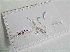 schlichte weiße Karte zur Hochzeit