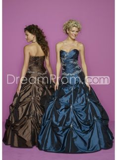 Taffeta Sweetheart Pick-ups Bodice with Ball Gown Hot Sell Quinceanara Dresses