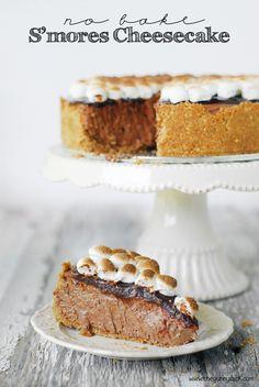 No Bake S'mores Cheesecake Recipe | thegunnysack.com