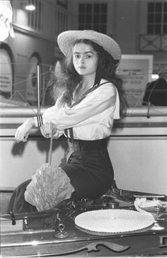 Helena Bonham Carter. She looks so... Innocent! And non crazy