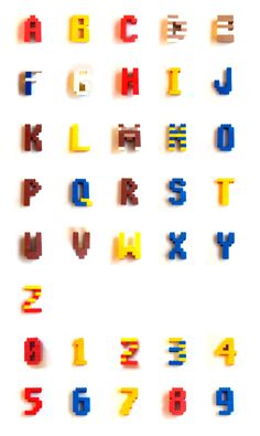 Experimental Typography made with LEGO®