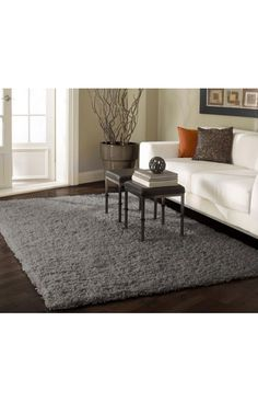 Awesome area rug website! Venice Shaggy Grey Rug | Contemporary Rugs