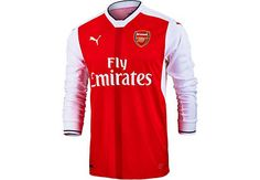 a5358bca9b 2016 17 Puma Arsenal Home Jersey L S Get it from SoccerPro right now