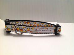 Candy Corn Dog Collar by WinnieWear626 on Etsy, $16.00