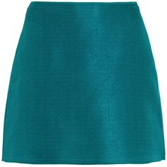 Marni Matelassé mini skirt (12.150 RUB) ❤ liked on Polyvore featuring skirts, mini skirts, teal, blue mini skirt, marni, teal skirt, short skirts and marni skirts