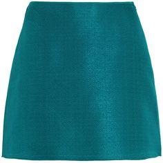 Marni Matelassé mini skirt (12.150 RUB) ❤ liked on Polyvore featuring skirts, mini skirts, teal, blue mini skirt, marni, teal skirt, short skirts and marni skirts