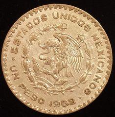 1962 Mexico Silver Peso Cool Coin Libertad Independencia Morelos cash