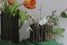 Selbstgemacht aus Fundstücken: Zweig-Vase als Vorfrühlings-Deko