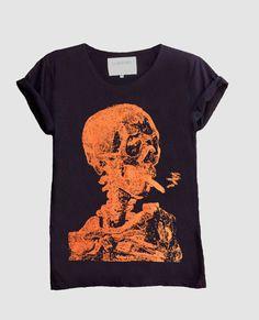 Van Gogh Skull T-shirt M