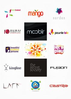 Colorful, creative logo designs from Alex Tass / nocturn.ro