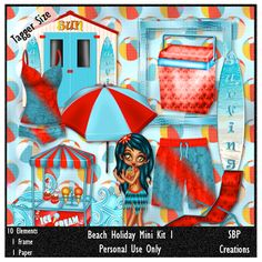 SBP Creations: Beach Holiday Mini Kit 1