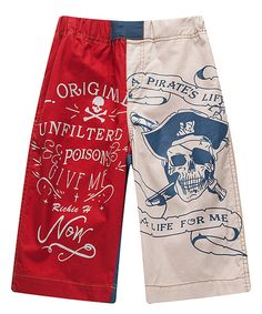 Look at this Red & White Pirate Shorts - Infant, Toddler & Boys on #zulily today!