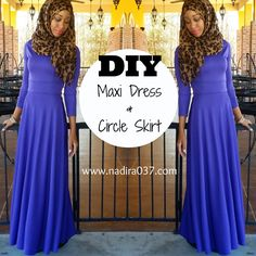 DIY | Nadira037 | Maxi Dress tutorial that uses a franken pattern from 2 of my prevoius YouTube tutorials