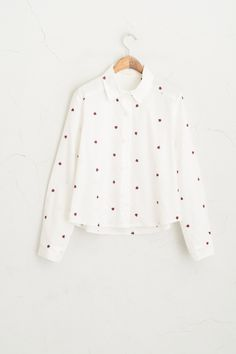 Olive - Ladybug Stitch Cropped Shirt, White, £48.00 (http://www.oliveclothing.com/p-oliveunique-20160216-002-white-ladybug-stitch-cropped-shirt-white)