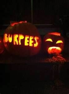 Pumpkin Burpees #FitnessHumor