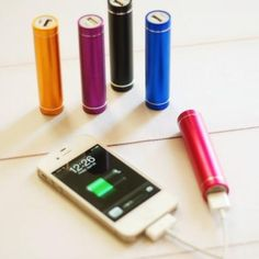 Lipstick iPhone chargers via P.S. i Adore You