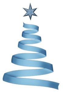 BLUE RIBBON CHRISTMAS TREE *