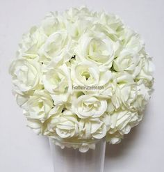 Silk Rose Balls Flower Kissing Balls Pomander Flower Balls<br /><br />Unlike other cheap flower balls, our rose balls are made of vivid rose flowers. No leaves and NO cheap PE flowers.<br /><br />We use more roses to make them best looking and high quality.<br /><br />Each flower is glued with hot glue to prevent them from falling off.<br /><br />You can put them on our floral stands, vases to make perfect centerpieces, also hang them up to decorate your events.<br /><br />Green Plastic…