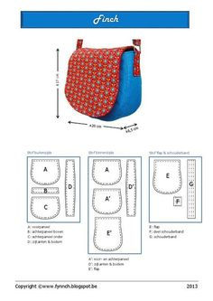 New Sewing Purses And Bags English Ideas Sewing Projects For Beginners, Sewing Tutorials, Sewing Crafts, Free Tutorials, Bag Patterns To Sew, Sewing Patterns Free, Free Pattern, Denim Bag Patterns, Handbag Patterns