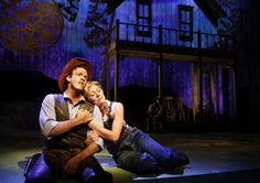 "Colte Julian as Curly and Allison Sill as Laurey in the Paramount Theatre production of ""Oklahoma! What A Beautiful Day, Beautiful Morning, Sarah Ross, Chicago Entertainment, Chicago Musical, Crazy Sister, Young Frankenstein, Paramount Theater, Jerry Lee Lewis"
