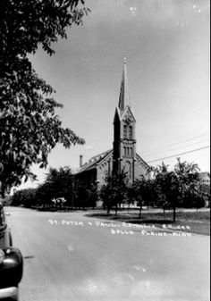 Old photo of Our Lady of the Prairie