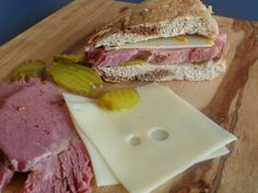 Who doesn't love a Corned Beef Sandwich. This one is on Marbled Rye!