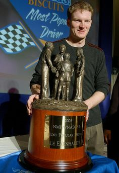 Becoming Mr. Popular  Dec. 5, 2003  Junior Nation officially took over NASCAR at the end of the 2003 season when Junior won the Most Popular Driver Award for the first time. He has held the honor every season since -- eight years and counting -- and will probably maintain a stranglehold on the award until he retires. Despite his struggles in recent years, Junior continues to be by far the driving force in NASCAR.