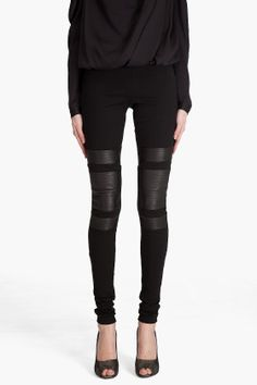 Diane Von Furstenberg Armed Leggings  - via @kennymilano
