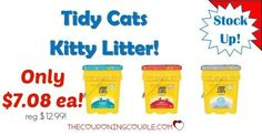 DON'T MISS OUT! Grab HUGE 35# tubs of Tidy Cat Kitty Litter for only $7.08 (reg $12.99). Stock up at this price!  Click the link below to get all of the details ► http://www.thecouponingcouple.com/stock-up-on-35-lb-tidy-cats-kitty-litter-only-8-29-at-target/ #Coupons #Couponing #CouponCommunity  Visit us at http://www.thecouponingcouple.com for more great posts!