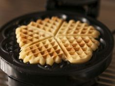 "Sourdough Sour Cream Waffles These waffles are made swiftly with that ""throw-away"" starter and rich sour cream. Tangy and slightly sweet, these waffles will be a hit in the kitchen, for their simplicity, and at the table for their flavor. Savory Waffles, Breakfast Waffles, Pancakes And Waffles, Sweet Breakfast, Breakfast Recipes, Cheese Waffles, Diabetic Breakfast, Waffle Batter Recipe, Waffle Recipes"