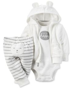 Pinterest: amyhigs  // Carter's Baby Boys' 3-Pc. Hoodie, Bodysuit & Pants Set