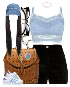 """""""Untitled #915"""" by cjasmyne ❤ liked on Polyvore featuring River Island, MCM, adidas, Lipsy, Topshop and Hysteric Co."""
