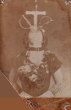 """Mlle. Edith Clifford, """"Champion Sword Swallower of the World"""" ca. 1900"""