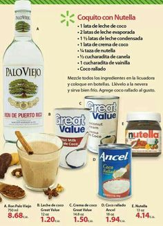 Nutella coquito