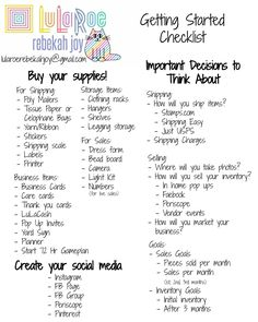 A checklist of things to do and think about when you're in the queue to become a new LuLaRoe consultant!