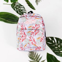 Welcome to the jungle: the Realm Backpack in White California Floral.