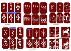 Easy warli paintings Courtesy: Easy Drawing for Kids