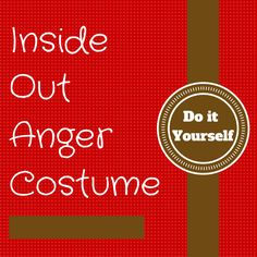 No need to be angry this Halloween whilst wearing this Inside Out Anger costume whether you purchase or create yourself as a fun family project.