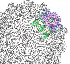Mandala Coloring Page - Eye of Gods - coloring page to print and color for mindfulness coloring, art therapy and fun!