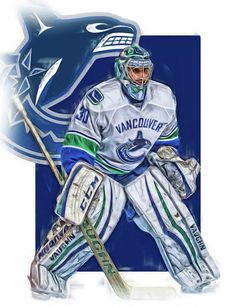 2d93719af70 Ryan Miller Print featuring the mixed media Ryan Miller Vancouver Canucks  Oil Art by Joe Hamilton
