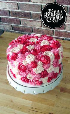 Rosette cake :: Milk chocolate with Vanilla Swiss Buttercream Cake Icing, Buttercream Cake, Swiss Buttercream, Cake Decorating Tips, Cookie Decorating, Cake Cookies, Cupcake Cakes, Chocolates, Rosette Cake