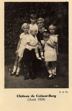 Dowager Grand Duchess Maria Anne with her daughter Charlotte's children c1929
