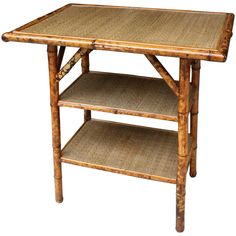 19th Century Victorian English Tiger Bamboo Tables