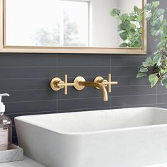 wall mounted sink and faucet