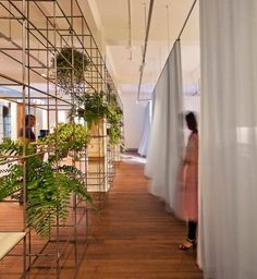 Interior design Plants Wall, Modern Beauty Salon In Sydney Dazzles With Its Sustainable Interior Design Interior Commercial Design, Commercial Interiors, Interior Exterior, Interior Architecture, Modern Interior Design, Modern Decor, Espace Design, Green Office, Deco Design